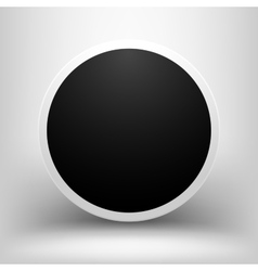 Black empty sphere with shadow vector image
