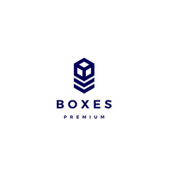 box cube logo icon vector image