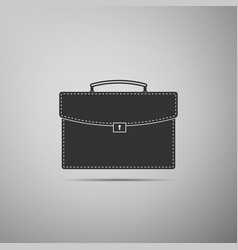 briefcase icon on grey background business case vector image