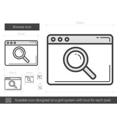 Browse line icon vector image