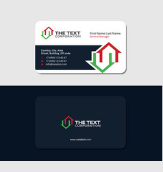 business card for a real estate manager vector image