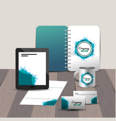 Business stationary template with company asset vector