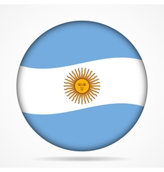 button with waving flag of Argentina vector image