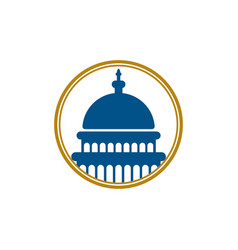 capitol logo icon design vector image