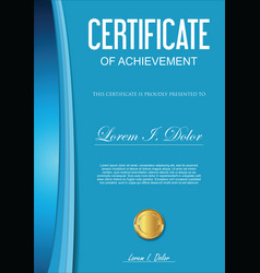 Certificate or diploma template 6 vector
