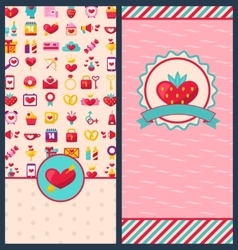 Collection Beautiful Banners for Happy Valentines vector image