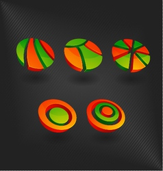 colorful set of icon design element company templa vector image