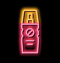 Cosmetic healthcare gel neon glow icon vector