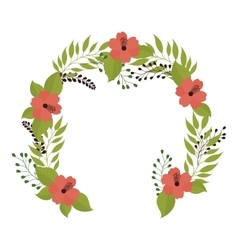 crown flower decoration vector image