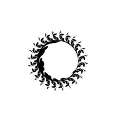 decorative round frame for design floral ornament vector image