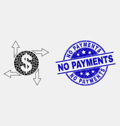 dotted dollar emission icon and grunge no vector image