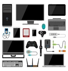 Electronic gadgets icons vector image