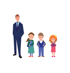 flat style education with teacher and pupils vector image