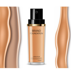 Foundation cream realistic cosmetics product vector