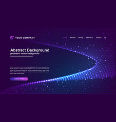 futuristic and technology websites background vector image