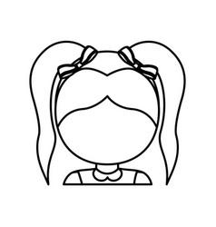 Girl face icon vector