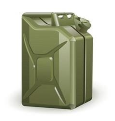 Green petrol canister vector