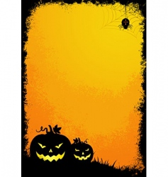 Grunge Halloween border vector