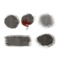 Halloween watercolor background texture circle vector