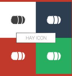 Hay icon white background vector