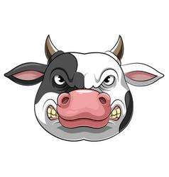 Head an angry cow vector
