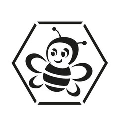 Honeybee logo vector