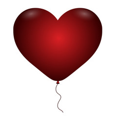 Isolated hearth balloon vector