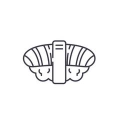japanese sushi line icon concept japanese sushi vector image