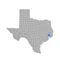 map liberty in texas vector image