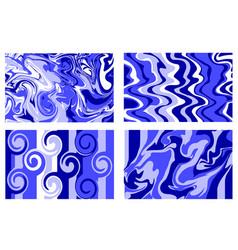 marble texture blue paint splash colorful fluid vector image