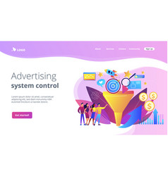 Marketing funnel concept landing page vector