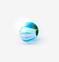 Medical mask protection planet from virus vector