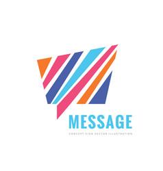 message concept logo template design vector image