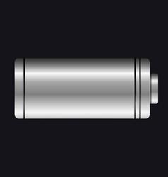Metal battery aa type vector