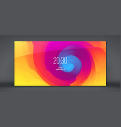 Modern lock screen for mobile apps abstract vector