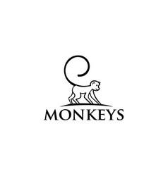Monkey symbol for templates logo vector