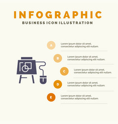 Mouse online board education infographics vector