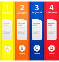 Multicolor folders infographic vector