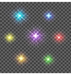Multicolor glowing light burst explosion vector