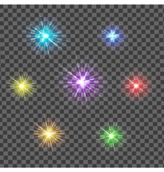 Multicolor glowing light burst explosion with vector image
