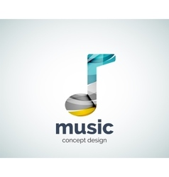 Music note logo template vector image