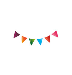 Pennants party decoration vector