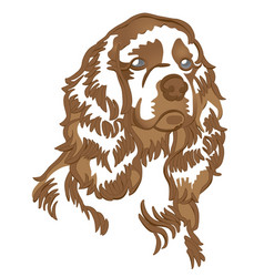 pet dog spaniel new year 2018 vector image