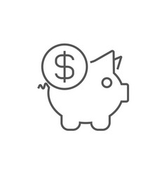 piggy bank bank money box money savings vector image