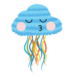pinata jellyfish for holiday cartoon pinata vector image