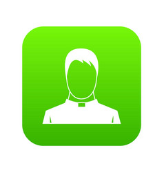 priest icon digital green vector image