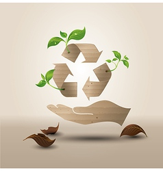 recyecle hand vector image