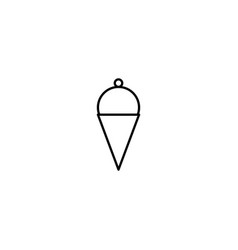 Refreshing ice cream in cone line icon vector