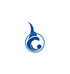 Round water wave logo vector