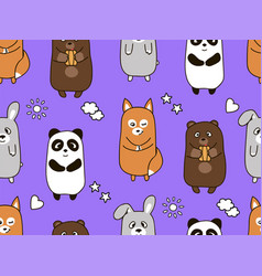 seamless cartoon pattern for children vector image